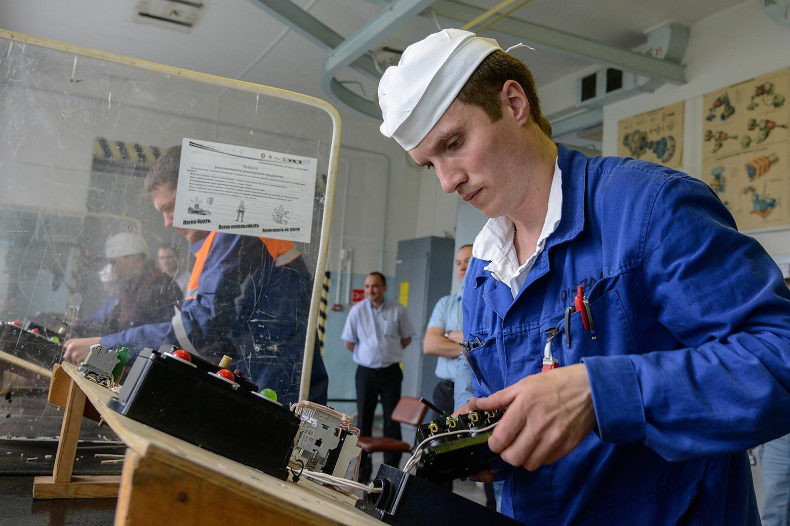 Конкурс профмастерства электромонтеров