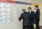 В информационном центре оперативного управления производством ЭХЗ